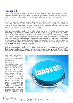 Start Innovation Word Template, First Inner Page, 07889, Technology, Science & Computers — PoweredTemplate.com