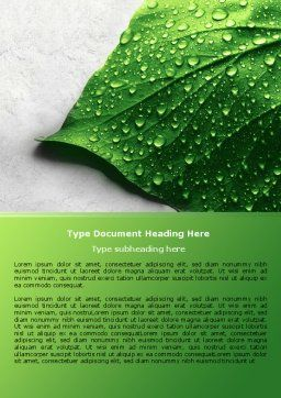 Wet Leaf Word Template Cover Page