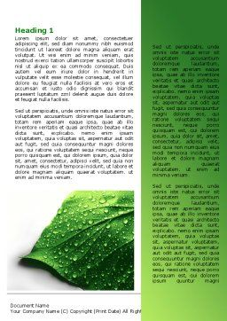 Wet Leaf Word Template First Inner Page