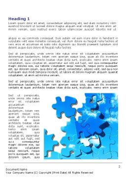 Puzzle Of The Sky Word Template, First Inner Page, 07893, Business Concepts — PoweredTemplate.com
