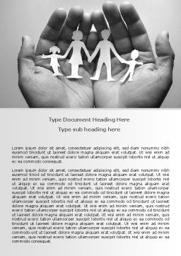 Concern For The Family Word Template, Cover Page, 07896, Medical — PoweredTemplate.com