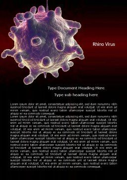 Bio Virus Word Template, Cover Page, 07899, Medical — PoweredTemplate.com