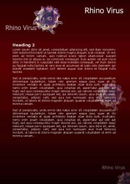 Bio Virus Word Template, Second Inner Page, 07899, Medical — PoweredTemplate.com