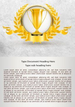 Golden Cup Word Template Cover Page