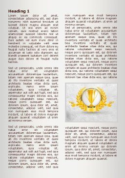 Golden Cup Word Template, First Inner Page, 07905, Careers/Industry — PoweredTemplate.com