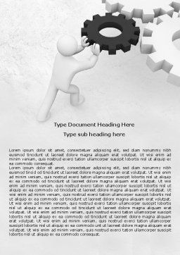 Important Detail Word Template, Cover Page, 07906, Consulting — PoweredTemplate.com