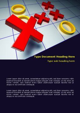 Crosses And Zeros Word Template, Cover Page, 07907, Business Concepts — PoweredTemplate.com