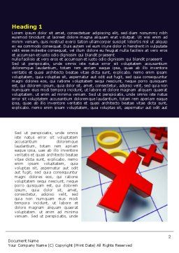 Crosses And Zeros Word Template, First Inner Page, 07907, Business Concepts — PoweredTemplate.com
