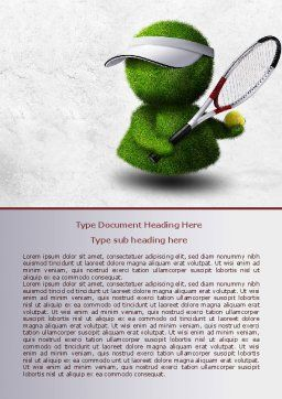 3D Tennis Player Word Template, Cover Page, 07911, Sports — PoweredTemplate.com