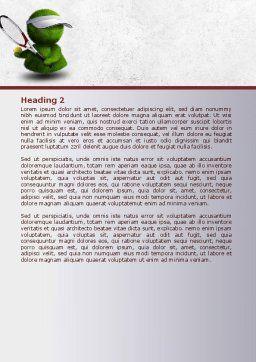 3D Tennis Player Word Template, Second Inner Page, 07911, Sports — PoweredTemplate.com