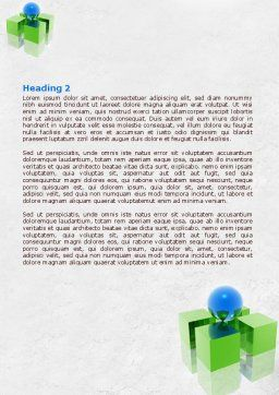 Equilibrium Word Template, Second Inner Page, 07914, Business Concepts — PoweredTemplate.com