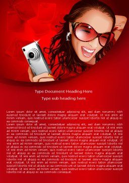 Compact Camera Word Template, Cover Page, 07922, Careers/Industry — PoweredTemplate.com