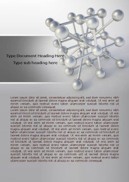 Molecular Lattice Word Template, Cover Page, 07924, Technology, Science & Computers — PoweredTemplate.com