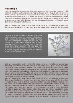 Molecular Lattice Word Template, First Inner Page, 07924, Technology, Science & Computers — PoweredTemplate.com