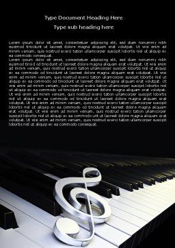 Music Key Word Template Cover Page