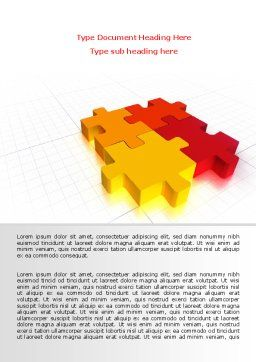 Fitting the Puzzle Word Template, Cover Page, 07926, Business — PoweredTemplate.com