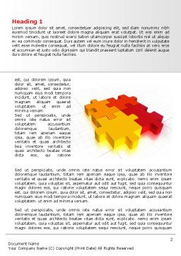 Fitting the Puzzle Word Template, First Inner Page, 07926, Business — PoweredTemplate.com