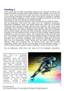 Running Iron Man Word Template, First Inner Page, 07928, Sports — PoweredTemplate.com