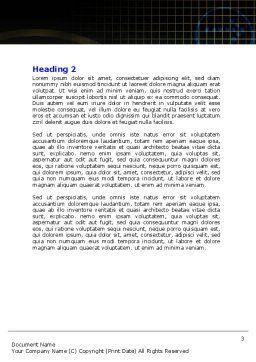 Running Iron Man Word Template, Second Inner Page, 07928, Sports — PoweredTemplate.com