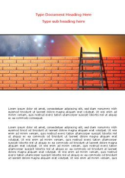 Fence Ladder Word Template, Cover Page, 07930, Consulting — PoweredTemplate.com