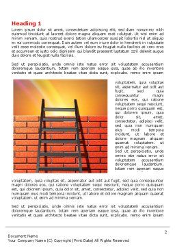 Fence Ladder Word Template, First Inner Page, 07930, Consulting — PoweredTemplate.com