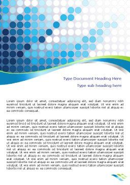Dotted Blue Theme Word Template, Cover Page, 07931, Business — PoweredTemplate.com