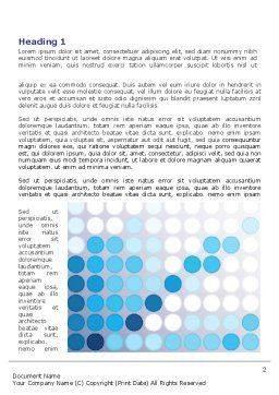 Dotted Blue Theme Word Template, First Inner Page, 07931, Business — PoweredTemplate.com