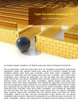 Yellow Labyrinth Word Template, Cover Page, 07934, Consulting — PoweredTemplate.com