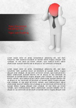 3D Man with Headache Word Template, Cover Page, 07936, Consulting — PoweredTemplate.com