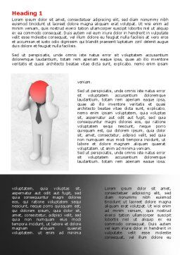3D Man with Headache Word Template, First Inner Page, 07936, Consulting — PoweredTemplate.com