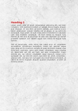 3D Man with Headache Word Template, Second Inner Page, 07936, Consulting — PoweredTemplate.com