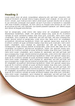 Compass in Sand Word Template, Second Inner Page, 07942, Business — PoweredTemplate.com