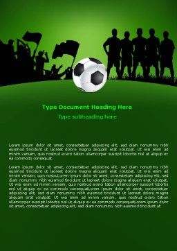 Football Game Word Template, Cover Page, 07943, Sports — PoweredTemplate.com