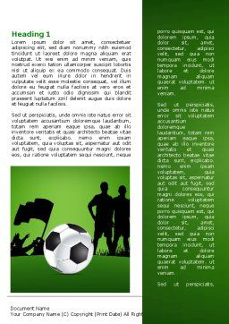 Football Game Word Template, First Inner Page, 07943, Sports — PoweredTemplate.com