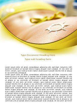 Sunbathe Word Template, Cover Page, 07945, Careers/Industry — PoweredTemplate.com