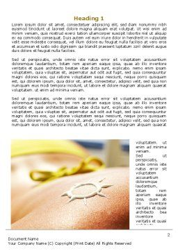Sunbathe Word Template First Inner Page