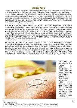 Sunbathe Word Template, First Inner Page, 07945, Careers/Industry — PoweredTemplate.com