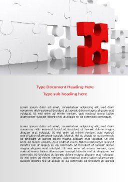 Fitting Puzzle Word Template, Cover Page, 07946, Consulting — PoweredTemplate.com
