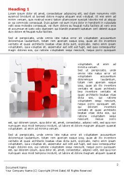 Fitting Puzzle Word Template, First Inner Page, 07946, Consulting — PoweredTemplate.com