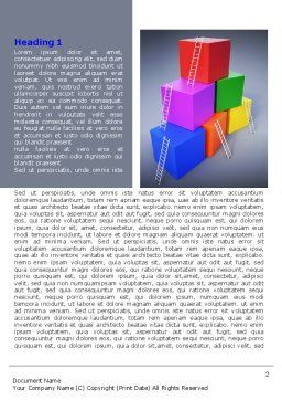 Pyramid of Cubes Word Template, First Inner Page, 07947, Consulting — PoweredTemplate.com