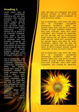 Flaming Sunflower Word Template First Inner Page