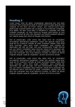 Matching Key Word Template, Second Inner Page, 07949, Consulting — PoweredTemplate.com