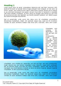 Tree Protection Word Template, First Inner Page, 07951, Nature & Environment — PoweredTemplate.com