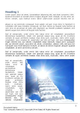 Heaven Ladder Word Template, First Inner Page, 07954, Religious/Spiritual — PoweredTemplate.com