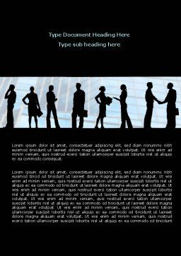 People and Careers Word Template, Cover Page, 07957, Business — PoweredTemplate.com