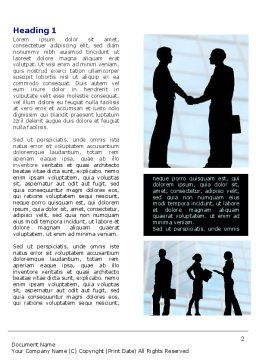 People and Careers Word Template, First Inner Page, 07957, Business — PoweredTemplate.com