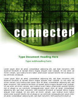 Connected World Word Template, Cover Page, 07958, Telecommunication — PoweredTemplate.com
