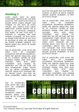 Connected World Word Template, First Inner Page, 07958, Telecommunication — PoweredTemplate.com