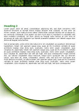 Connected World Word Template, Second Inner Page, 07958, Telecommunication — PoweredTemplate.com