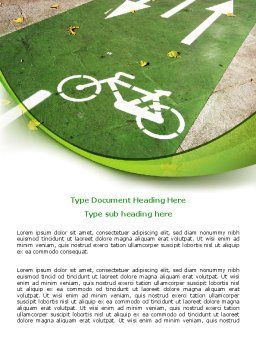 Bicycle Zone Word Template, Cover Page, 07961, Careers/Industry — PoweredTemplate.com